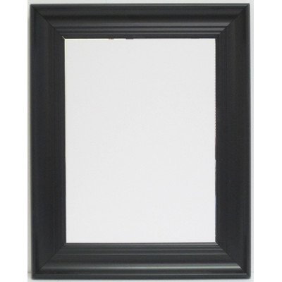 Alpine Mirror & Art Chartiers Wall Mirror Deluxe Black Wall Mirror with Bevel (Mirror Alpine)