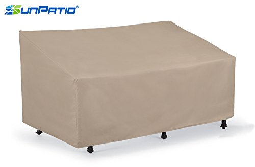 SunPatio Outdoor Patio Veranda Sofa / Loveseat Cover,Light Weight,Water Resistant, Eco-Friendly,Helpful Air Vents,60