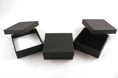 Lift Off Presentation Box (1 x Black Lift off Lid Universal/Pendant Gift Presentation Box (ET-5) by boxdisplays)
