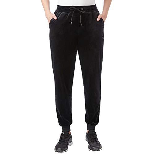 Fila Ladies' Velour Jogger Pant, Variety (M, Black)