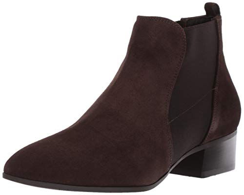 Aquatalia Women's Falco Suede Ankle Boot, Espresso, 5.5 M US