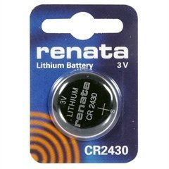 Renata #CR2430 Lithium Coin Battery 3V Blister Card Packaged For Peg Hook Durable High Quality New