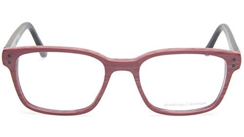 NEW PRODESIGN DENMARK 4722 c.4126 RUBY BRUSHED EYEGLASSES 53-19-140 B38mm - Glasses Denmark