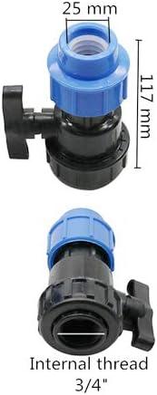 V/álvula de bola de pl/ástico con rosca interior adaptador r/ápido de tuber/ía de agua grifo de tuber/ía de polietileno 32 mm//25 mm//20 mm 1 unidad