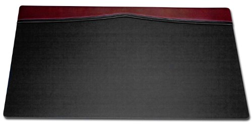 Dacasso Desk Pad with a Top-Rail, 34 by 20-Inch, Burgundy