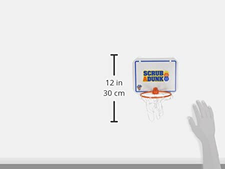 Standard 21 The Dunk Collection Scrub-A-Dunk-The Bathtub Basketball Hoop for Baby Ballers Blue//Orange