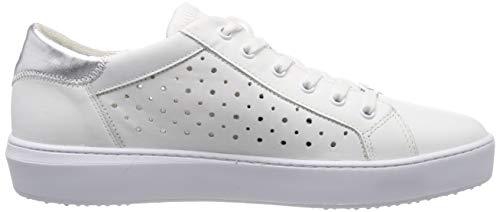 Mujer 1 Zapatillas white 191 Tamaris silver Blanco Para 22 23746 1 191 4XXq50x