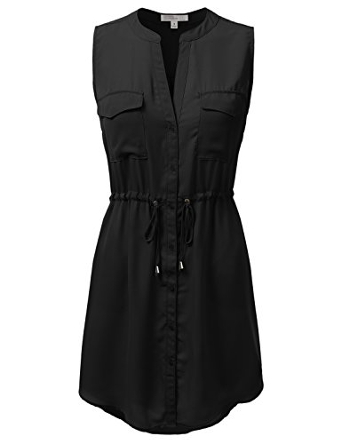 Buy belted button down dress - 1