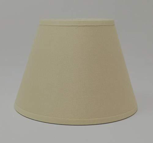 f/ür Kronleuchter // Wandleuchte handgemacht Kleiner cremefarbener Lampenschirm zum Aufstecken Baumwollgewebe