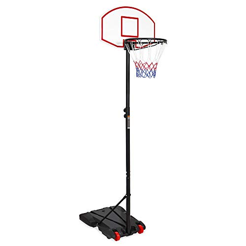 Best Choice Products Portable Youth Basketball Hoop, Height Adjustable Backboard w/Wheels