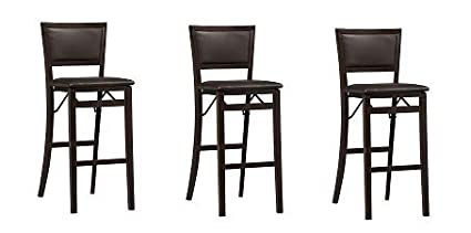 Outstanding Linon Keira Pad Back Folding Bar Stool 3 Pack Camellatalisay Diy Chair Ideas Camellatalisaycom
