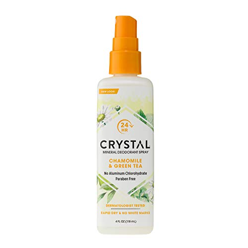 Crystal Mineral Deodorant Spray, Chamomile & Green Tea, 4.0 oz (Pack of 12) Review