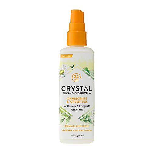 - Crystal Essence Mineral Deodorant Spray, Chamomile & Green Tea 4 oz (Pack of 12)