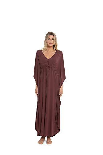 Barefoot Dreams Luxe Milk Jersey Paradise Cove Caftan, Ankle Length ()
