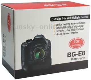 Battery Grip for Canon EOS 550D with Two Battery Holder Durable