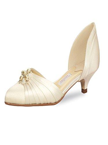 Brautschuhe Rainbow Couture Delano Ivory Seiden Satin (EU 37.5/ 4,5 UK)
