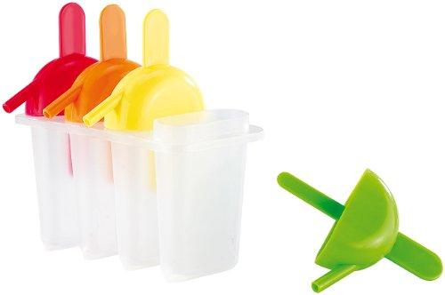 Rosenstein & Söhne Form für selbstgemachtes Eis am Stiel mit Trinkhalm