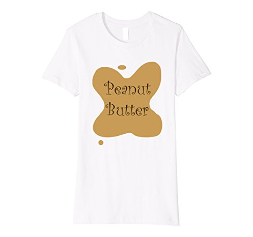 [Women's Peanut Butter & Jelly Couples Halloween Costume - His & Hers XL White] (Larger Ladies Halloween Costumes)