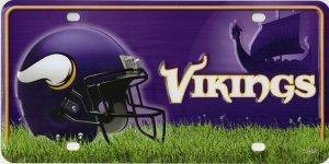(NFL Minnesota Vikings Metal License Plate Tag )