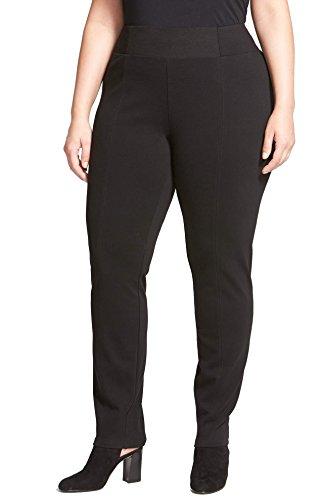 Eileen Fisher Plus Size Women's Slim Knit Pants With Yoke Detail, Size 2X - Black (Eileen Fisher Slim Pants)