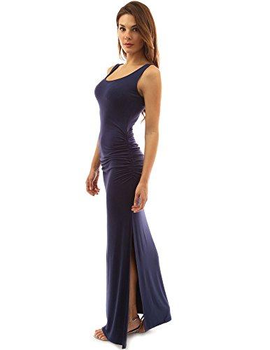 PattyBoutik Women Sleeveless Summer Maxi Dress (Navy Blue Medium) -