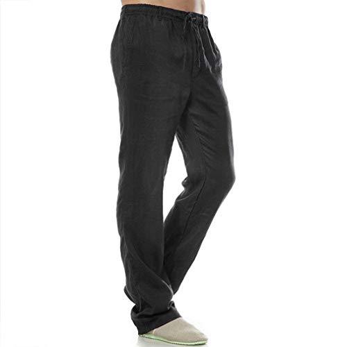 Sportivi Fasciatura Uomo Tinta Fashion Con Unita Nero Tasche Saoye Giovane Pantaloni Jogging Da qnZBwBPU