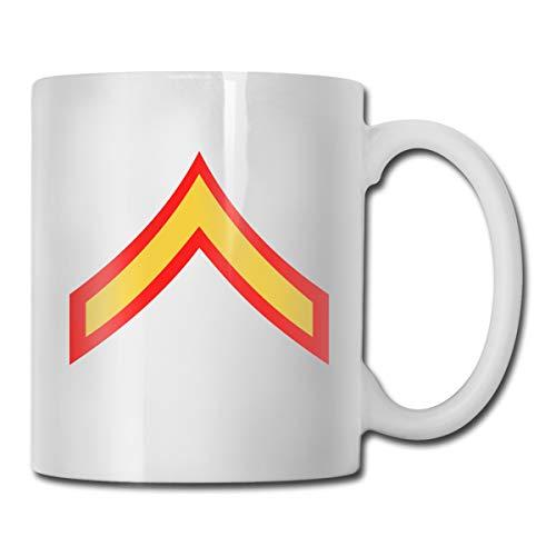 VRKKDCAP USMC Private First Class E2 Funny Novelty Gift Mug White Tea Brewing Cups