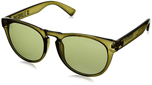 Electric Visual Nashville XL Round Sunglasses, Gloss Olive Vintage Green, 50 mm