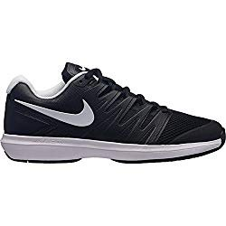 NIKE Men's Air Zoom Prestige Tennis Shoes (10.5 D US, Black/White)