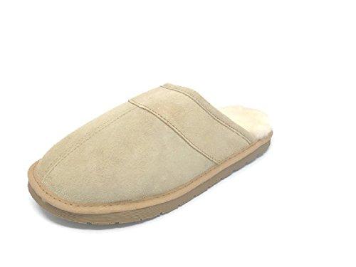 on Scuff Hut Sheepskin Loafers Mens Medium Sandals Slip Slipper Tan Genuine Premium Australian Slippers S8YAqqwd