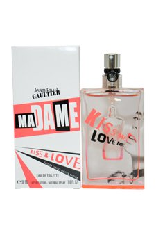 Jean Paul Gaultier Madame Kiss and Love Eau De toilette Spray, Limited Edition for Women, 1.6 Ounce -  0342347047322