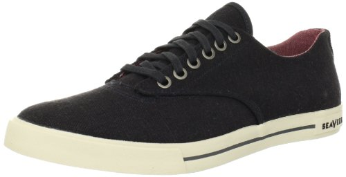 SeaVees Men's 08/63 Hermosa Plimsoll Core Tennis Shoe,Slate Navy Vintage Wash Linen,7 M US