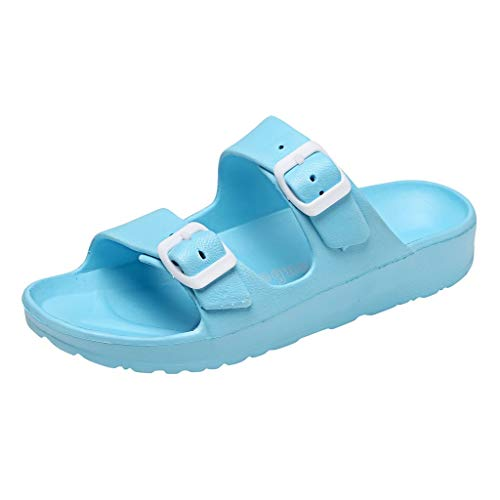 - SOOTOP Mens Women's Fashion Slip Resistent Clog Shoes Sandals Slippers Casual Water Shoes Slip on Breathable Summer Lightweight Walking Beach Sports Comfortable Shoes Blue