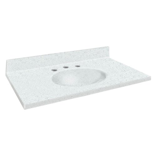 Samson Solid Surface 25x19 Single Integral Bowl 8-Inch Of...