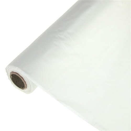 Homeford FNS007100WHT Banquet Plastic Uncut Table Roll, 40