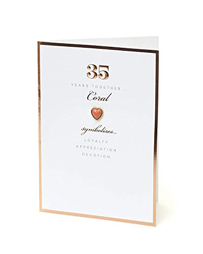 35th Anniversary Card - Coral 35 Years Together