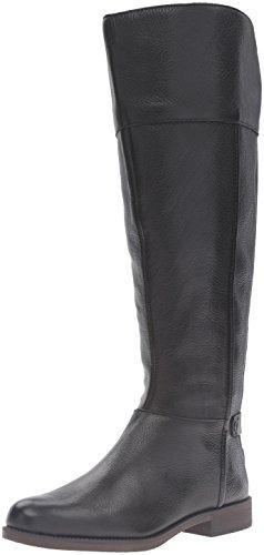 Franco Sarto Women's Christine Wide Calf Equestrian Boot, Black, 7.5 M (Leather Equestrian Boots)