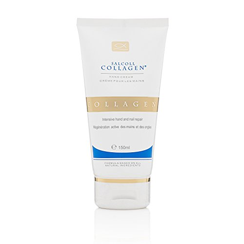 SALCOLL COLLAGEN Hand Cream - Hypoallergenic Anti-Aging Hand Cream w/ Potent Natural Collagen - Helps in Skin Moisturization, Protection, Healing, Regeneration - Hand Cream for All Skin Types - 150 ml