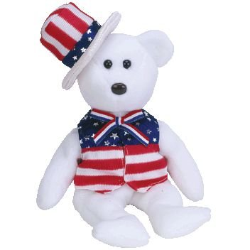 Amazon.com  TY Beanie Baby - SAM the Bear (White Version)  Toys   Games 67272543fc5
