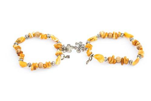 Simply Linen Friendship Bracelet, Amber Bracelet, Amber Jewelry, Handmade Bracelet, Baltic Amber