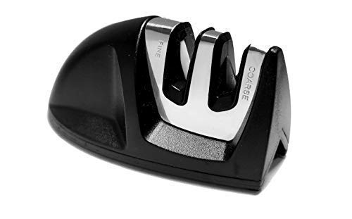 VowChef Knife 2 Slot Edge Grip Kitchen Knife Sharpener, Helps to Sharpen Dull Knives (Black) Price & Reviews