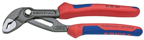 Knipex 8702180 7 1/4-Inch Cobra Pliers - Comfort Grip
