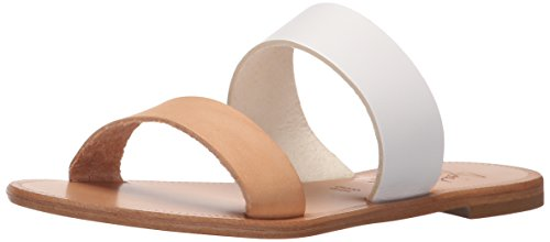 Joie Women's Sable Flat Sandal, White/Natural, 37 EU/7 M US (One Strap Sandal)