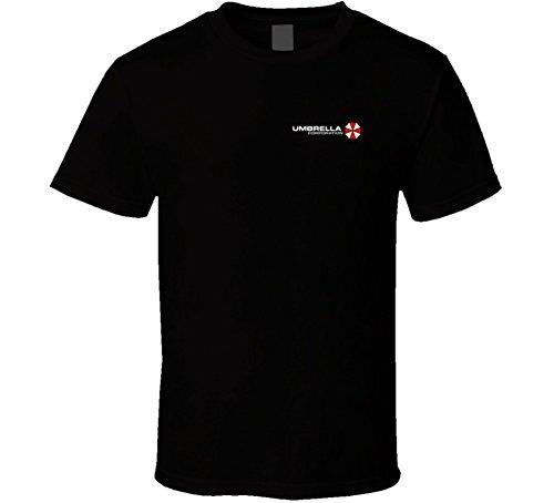 SillyTeesExpress Umbrella Corporation Small Light T Shirt M Black ()