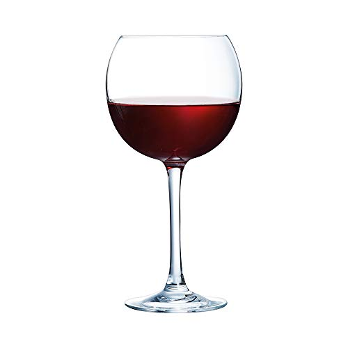 ARCOROC Cabernet Ballon Wine Glasses 16oz / 470ml - Pack of 6 | Kwarx Advanced Material, Tempered Wine Glasses, Toughened Wine Glasses ()