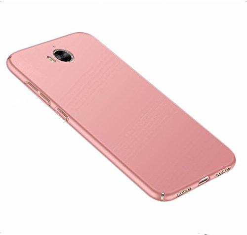 SMTR Huawei Y6 2017 Funda, Calidad Premium Cubierta Delgado Caso de PC Hard Gel Funda Protective Case Cover para Huawei Y6 2017 -Oro Oro rosa