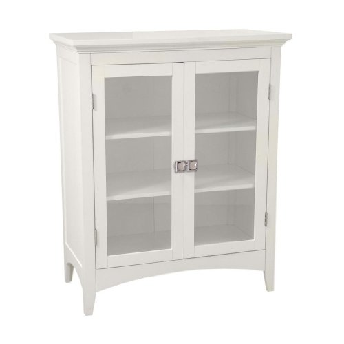 Argo Double Doors Floor Cabinet K1, Two Adj-shelves with Crystal Door Knobs