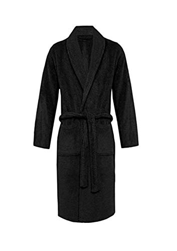 39515bd038ab0 Luxury Mart Bathrobe 100% Egyptian Cotton Luxury Velour Towelling Hooded  Dressing Gown Soft Fine Comfortable