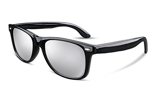 FEISEDY Great Classic Polarized Sunglasses Men Women Mirrored HD Lens Silver - Sunglasses Silver