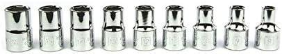 Stanley MicroTough Steckschlüssel-Set (1/2 Zoll, 29-teilig, Steckschlüssel mit MaxiDrive 8-32 mm, Umschaltknarre) 2-85-584
